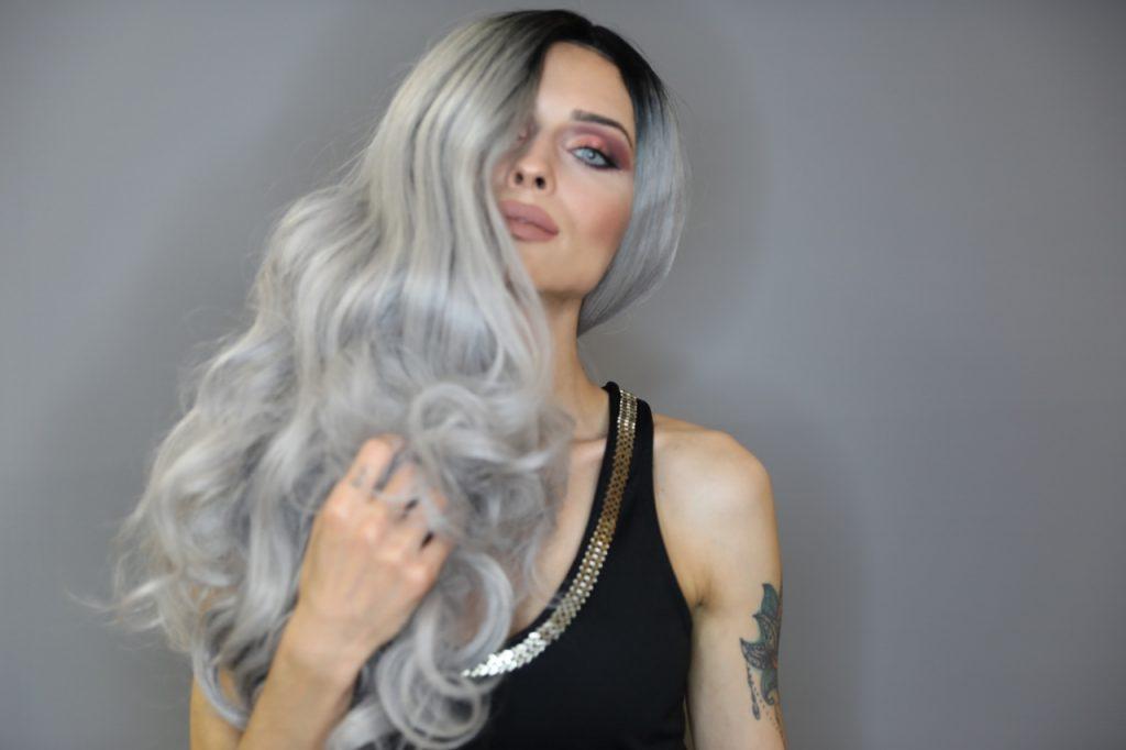 gri ombre kaynak saç